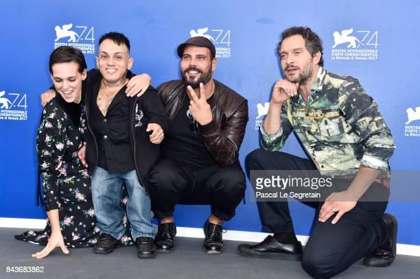 Sara Serraiocco, Simoncino, Marco D'Amore and Claudio Santamaria attend the 'Brutti E Cattivi' photocall during the 74th Venice Film Festival on...