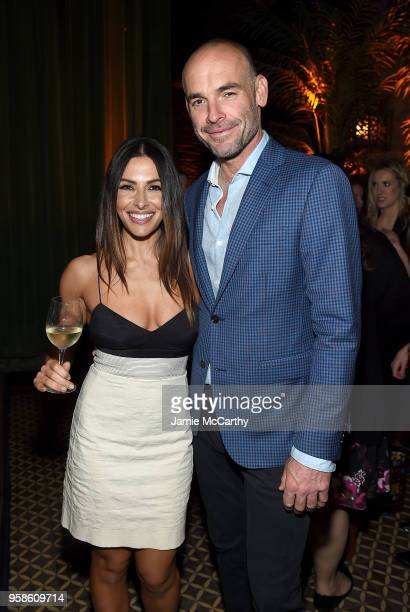 Sara Shahi and Paul Blackthorne attend Entertainment Weekly PEOPLE New York Upfronts celebration at The Bowery Hotel on May 14 2018 in New York City