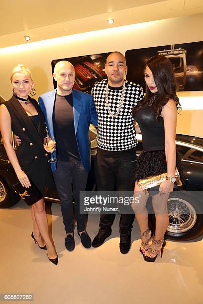 Sara Sotti Fabrizio Sotti DJ Envy and Gia Casey attend DJ Envy's Birthday Celebration at Ferrari Corporate Showroom on September 14 2016 in New York...