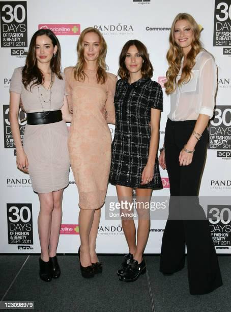 Sara StephensHeidi HarringtonJohnsonAlexa Chung and Alyssa Sutherland attend a photo call to promote '30 Days of Fashion and Beauty' a fashion event...