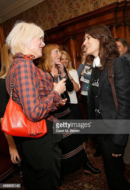 Sara Stockbridge and Bella Freud at Mark's Club for the Vivienne Westwood Autobiography Launch on October 7 2014 in London England