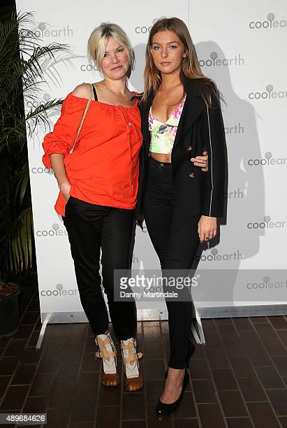 Sara Stockbridge and daughter Lelu Rolland attends the launch party for Cool Eart at The Conservatory Barbican Centre on September 23 2015 in London...