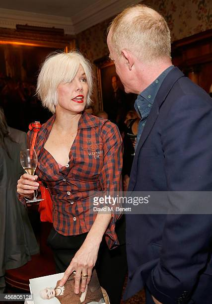 Sara Stockbridge and Ian Kelly at Mark's Club for the Vivienne Westwood Autobiography Launch on October 7 2014 in London England