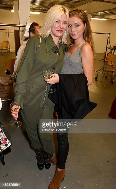 Sara Stockbridge and Lelu Rolland attend the Vivienne Westwood Red Label show during London Fashion Week SS16 at Ambika P3 on September 20 2015 in...