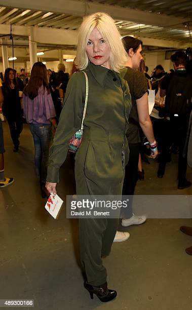 Sara Stockbridge attends the Vivienne Westwood Red Label show during London Fashion Week SS16 at Ambika P3 on September 20 2015 in London England