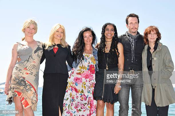 Sara Stockbridge Donna D'Errico Mary Mcguckian SuzanLori Parks Amanda Plummer and Michael Eklund at the photo call of The Making Of Plus One during...