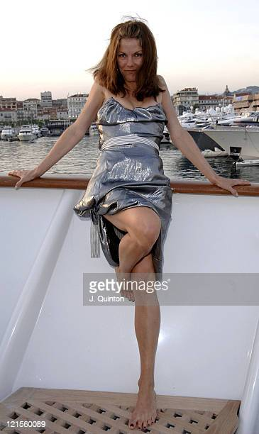 Sara Stockbridge during 2005 Cannes Film Festival Rag Tale Party at Cannes Harbour in Cannes France