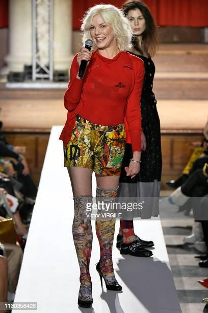 Sara Stockbridge walks the runway at the Vivienne Westwood Ready to Wear Fall/Winter 20192020 fashion show during London Fashion Week February 2019...