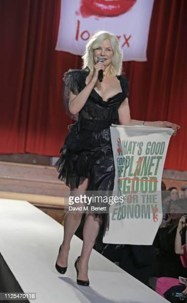 Sara Stockbridge walks the runway at the Vivienne Westwood show during London Fashion Week February 2019 on February 17 2019 in London England