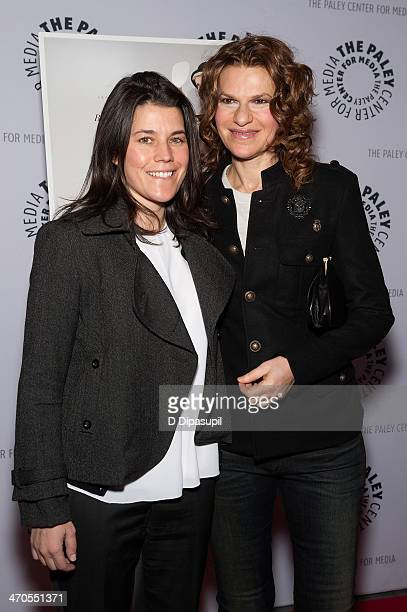 Sara Switzer and Sandra Bernhard attend the Elaine Stritch Shoot Me screening at The Paley Center For Media on February 19 2014 in New York City