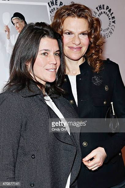 Sara Switzer and Sandra Bernhard attend the Elaine Stritch Shoot Me screening at Paley Center For Media on February 19 2014 in New York City