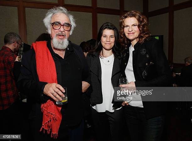 Sara Switzer and Sandra Bernhard attend the Elaine Stritch Shoot Me screening reception at Paley Center For Media on February 19 2014 in New York City