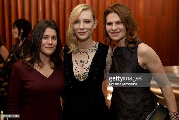 Sara Switzer Cate Blanchett and Sandra Bernhard attend the reception for the premiere of Carol during the 53rd New York Film Festival at Alice Tully...