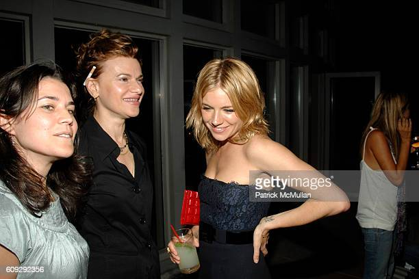 Sara Switzer Sandra Bernhard and Sienna Miller attend THE CINEMA SOCIETY andDIOR BEAUTY after party for INTERVIEW at Soho Grand Hotel on July 11...
