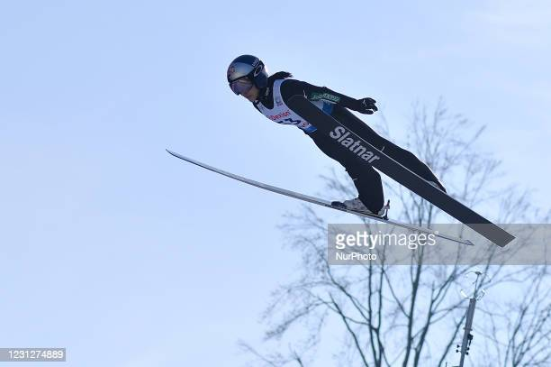 Sara Takahashi of Japan in action during the FIS Ski Jumping World Cup - 10th World Cup Competition, Women Normal Hill Individual, in Rasov, Romania,...
