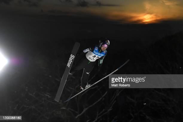 Sara Takanashi of Japan competes during day one of the FIS Ski Jumping Women's World Cup Zao at Kuraray Schanze on January 17 2020 in Yamagata Japan