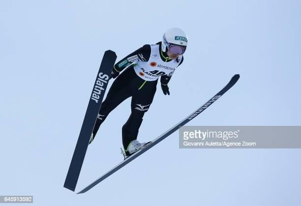 Sara Takanashi of Japan competes during the FIS Nordic World Ski Championships Women's Ski Jumping HS100 on February 24 2017 in Lahti Finland