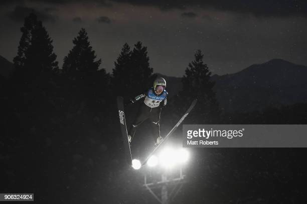 Sara Takanashi of Japan competes during the offical training on day one of the FIS Ski Jumping Women's World cup Zao at Kuraray Zao Schanze on...