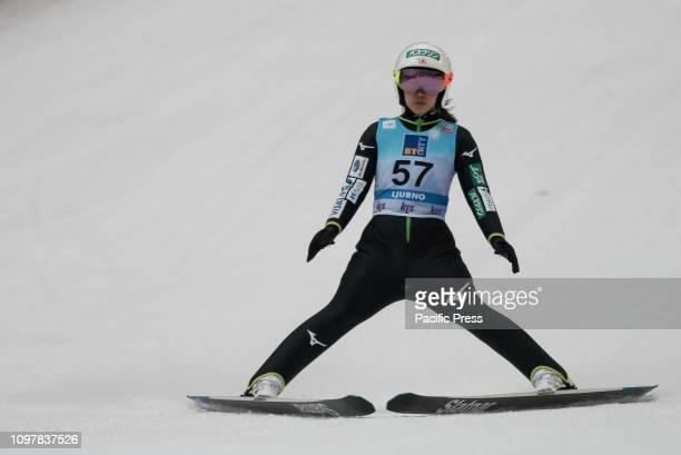 LJUBNO SLOVENIA LJUBNO SAVINJSKA SLOVENIA Sara Takanashi of Japan competes on last competition day of the FIS Ski Jumping World Cup Ladies Ljubno in...