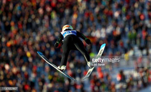 Sara Takanashi of Japan jumps during the first round of the HS109 women's ski jumping Competition of the FIS Nordic World Ski Championships at Toni...