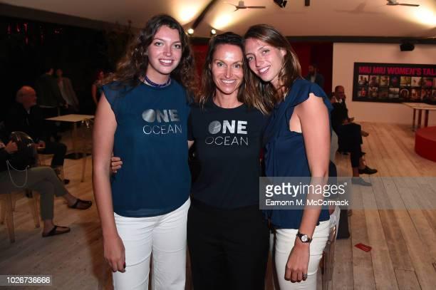 Sara Tazartes Anne de Carbuccia and Julia Tazartes attend One Ocean at Venice Film Festival on September 4 2018 in Venice Italy