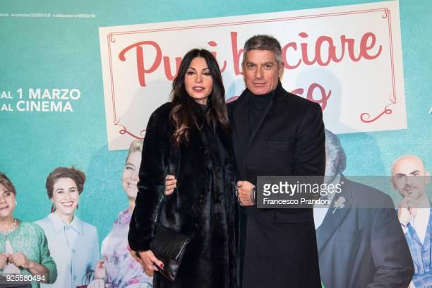 Sara Testa and Giorgio Restelli attend a photocall for 'Puoi Baciare Lo Sposo' on February 28 2018 in Milan Italy