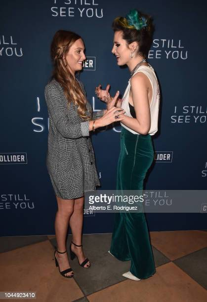 Sara Thompson and Bella Thorne attend the Collider Special Screening of Lionsgate's 'I Still See You' at ArcLight Sherman Oaks on October 2 2018 in...