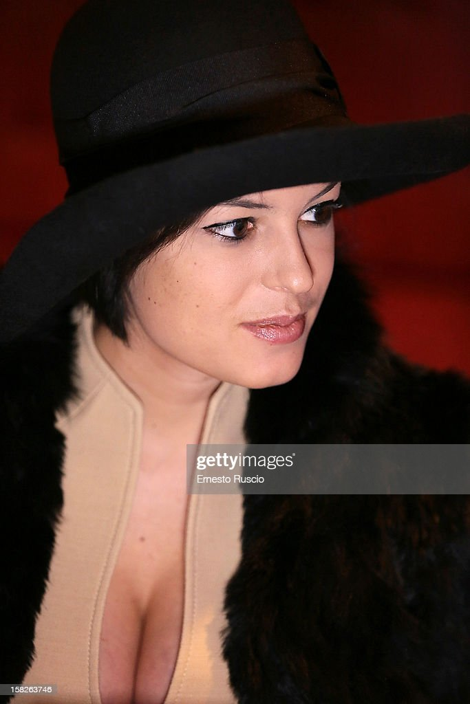 Sara Tommasi attends the Launch her book 'Ora Basta Parlo Io' at Elle Restaurant on December 12, 2012 in Rome, Italy.