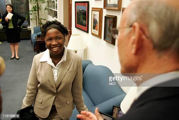 Sara TuckerCulver of Kansas City Kansas with US Senator Pat Roberts at his office October 26 in Washington DC