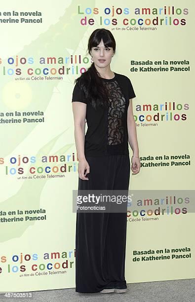 Sara Vega attends the 'Los Ojos Amarillos de los Cocodrilos' premiere the Academia del Cine on April 30 2014 in Madrid Spain
