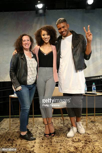 Sara Vilkomerson Jasmin Savoy Brown and Jeffrey BowyerChapman attend the Next Gen Panel at the 4th Annual Bentonville Film Festival Day 4 on May 4...
