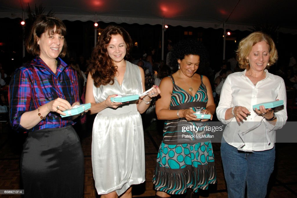 Sara Walker, Alina Plaia, Guest and Guest attend the Best Buddies Hamptons Gala at the Home of Anne Hearst McInerney and Jay McInerney on August 21, 2009 in Watermill, NY.
