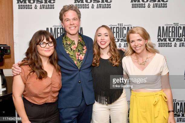Sara Watkins Josh Ritter Sarah Jarosz and Aoife O'Donovan of I'm With Her seen backstage during the 2019 Americana Honors Awards at Ryman Auditorium...