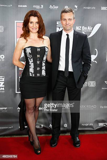 Sara Wiseman and Craig Hall pose on the red carpet before the Rialto Channel New Zealand Film Awards at Shed 10 on December 12 2014 in Auckland New...