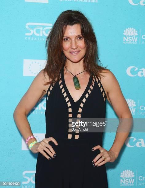 Sara Wiseman attends the Flickerfest International Short Film Festival Opening Night at Bondi Beach on January 12 2018 in Sydney Australia