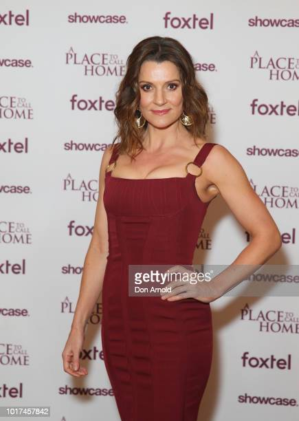 Sara Wiseman attends the premiere screening event for A Place To Call Home The Final Chapter at State Theatre on August 16 2018 in Sydney Australia