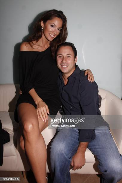 Sara Wolf and Scott Lesser attend RODOLFO VALENTIN'S Salon & Spa Preview Party at 694 Madison Avenue on June 15, 2009 in New York City.