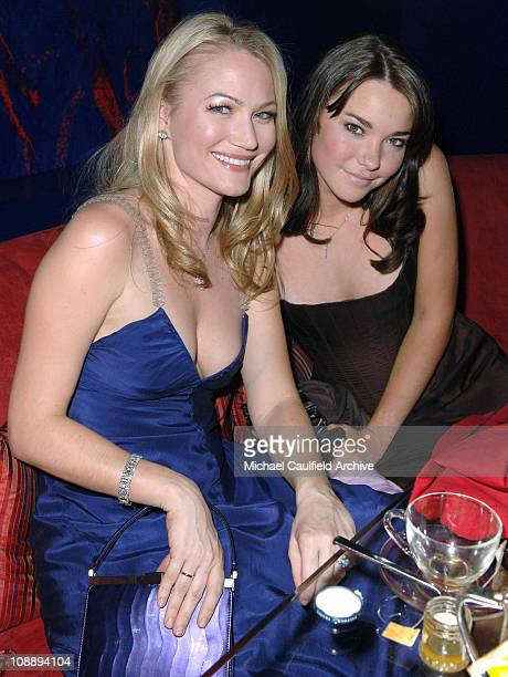 Sara Wynter and guest during InStyle & Warner Bros. 2006 Golden Globes After Party - Inside at Beverly Hilton in Beverly Hills, California, United...