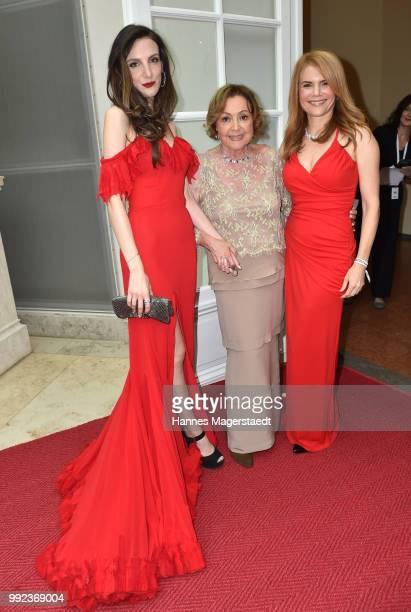 Sara Yafi Elisabeth WickiEndriss and Silke Popp attend the Bernhard Wicki Award 2018 during the Munich Film Festival 2018 at Cuvilles Theatre on July...