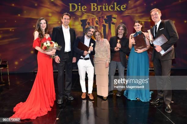 Sara Yafi Georg Eisenreich Feras Fayyad Elisabeth WickiEndriss Ziad Doueiri Katja Benrath and Lars Kraume attend the Bernhard Wicki Award 2018 during...