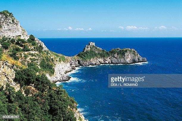 Saracen Tower in Capo di Conca Conca dei Marini Amalfi Coast Campania Italy