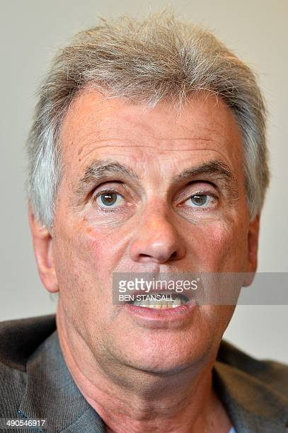 Saracens chairman Nigel Wray speaks during an interview with AFP in Hendon north London on May 13 2014 Since rugby union turned professional 20 years...