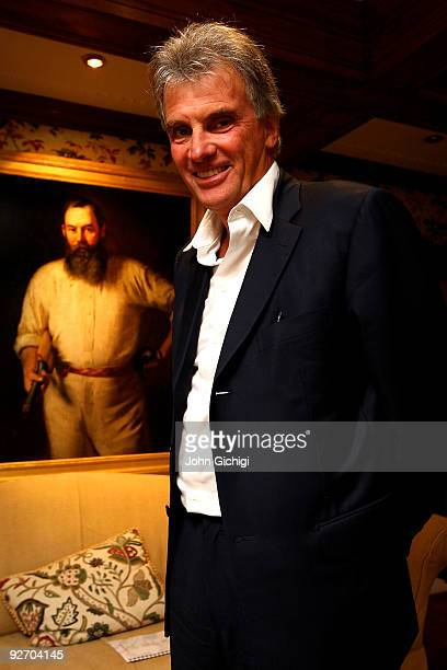 Saracens Chairman/Owner Nigel Wray poses for a photograph on September 30 2009 at the The Priory in Totteridge VillageLondon