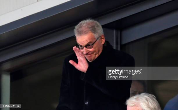 Saracens ex chairman Nigel Wray during the Heineken Champions Cup Round 6 match between Saracens and Racing 92 at Allianz Park on January 19 2020 in...