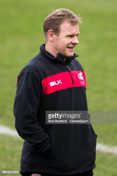 LONDON ENGLAND DECEMBER Saracens' Head Coach Mark McCall during the Aviva Premiership match between Harlequins and Saracens at Twickenham Stoop on...