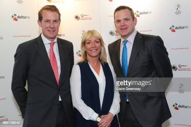 CEO Saracens Heath Harvey Sport Presenter Jill Douglas and COO British and Irish Lions Charlie McEwan attend The Sport Industry Breakfast Club...