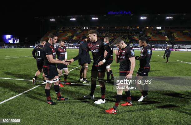 0a795c3e3da Saracens players look dejected after the European Rugby Champions Cup match  between Saracens and ASM Clermont