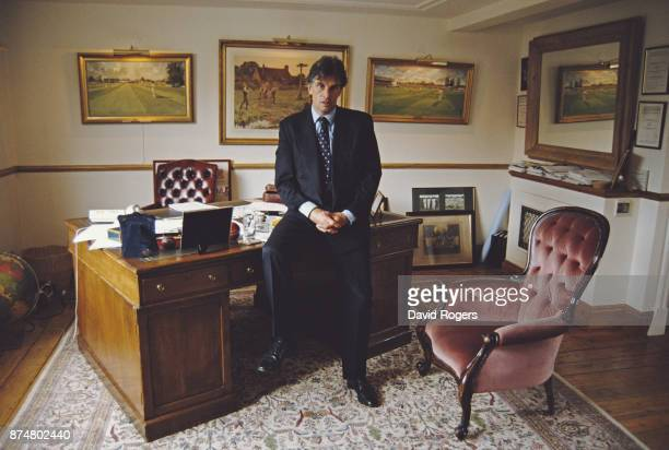 Saracens Rugby Union Chairman Nigel Wray pictured in his office on May 3 1996