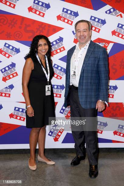 Sarada Peri and David Frum attend the 2019 Politicon at Music City Center on October 26 2019 in Nashville Tennessee