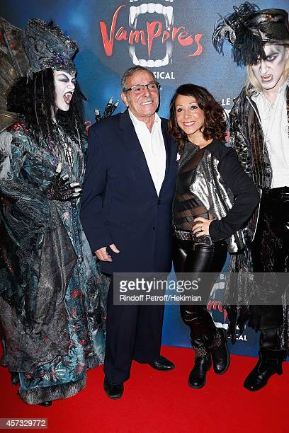 Sarah Abitbol and her father attend 'Le Bal Des Vampires' Premiere at Theatre Mogador on October 16 2014 in Paris France
